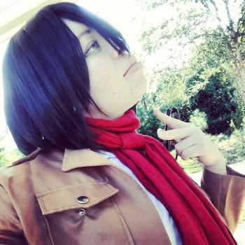 Mikasa Ackerman Cosplay 3 by blackassassins