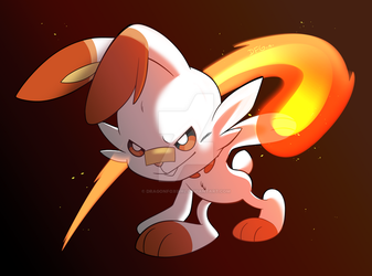 Scorbunny by Dragonfoxgirl