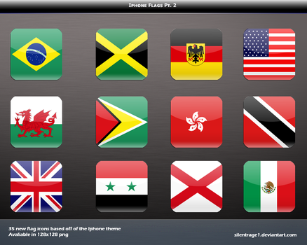 Iphone Flag Icons Pt. 2 by Silentrage1
