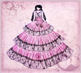 Pink princess Gown by BethzAbonitz