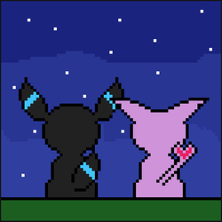Umbreon And Espeon2 by Shoktherail