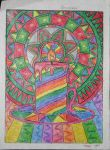 Candle with coloring pencil by tanya6k
