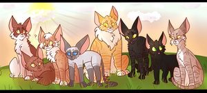 Power of Three AU - WindClan Apprentices by mathes0n