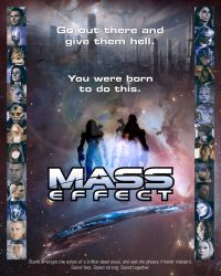 Mass Effect: Poster for Electronic Arts Final by Xombiecats