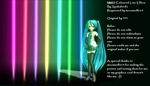 MMD Coloured Line Effect DL by ChestNutScoop