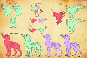 Cave Walker Species Reference (CUSTOMS - ASK ME) by Creamy-Galaxies