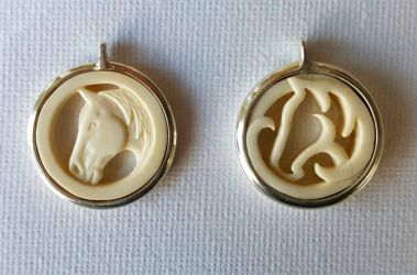 2 more horse pendants by savagewerx