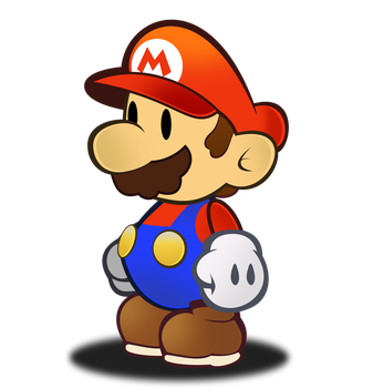 Paper Mario HD Sprite by Fawfulthegreat64