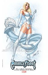 Emma Frost Print by J-Scott-Campbell