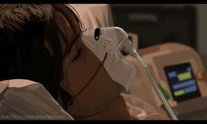 In Hospital Bed (Clip Studio Paint) by HarkinDeximire