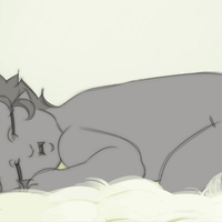 Baby Solaa Nap by WhiteFoxCub