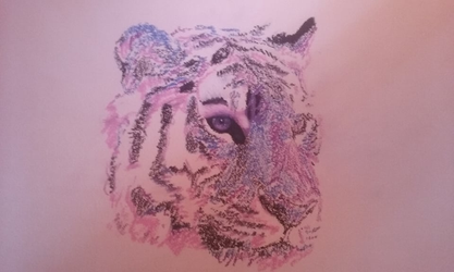 Pastel Tiger WIP by TheSevenDemon