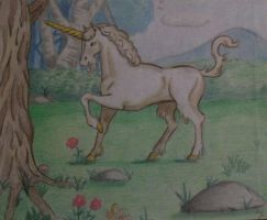 Unicorn drawing (old drawing) by TinyAna