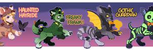 Plush Dragon Guest Artist Halloween Auction CLOSED by kasettetape