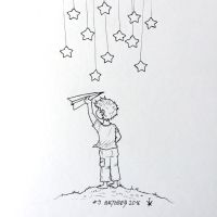 Inktober 2016 - 9: Half way to the stars by Kirana