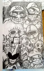 My first Warioware fan art by HerbbyZ