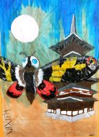 Mothra and the Pagoda by MemoryOfTheWaters