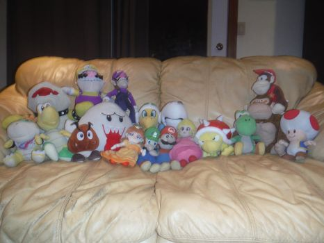 My Mario Plush Collection by JPLover764