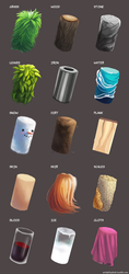 Material/Texture Practice by jellophish