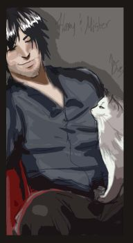 Harry Dresden and Mister by TheOneCalledNio