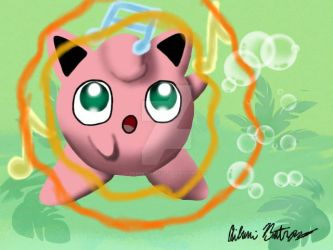 3DS Drawing 3 - Jigglypuff's Lullaby by pandaserules97