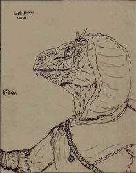 Skyrim: Argonian Character by TheFaintSmile