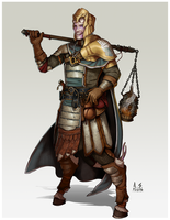Commission: Lan, Tiefling Paladin of Torm by asphillipsart