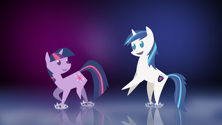 Twilight Sparkle and Shining Armor by Acesential