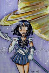 artcard commish: sailor saturn by bluecanarykit