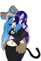 hug (collab I did on sketch the app) by Blue--Dust