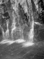 Waterfalls in Las Vegas 4 bw by killer46