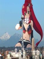 Giantess Yoko Littner by doctorwhooves253