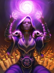 Hearthstone Hooded Acolyte by burncomics