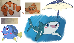 Finding Nemo (Dory): Some Ocean art by Chibi-N92