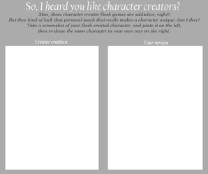 Character Creator Meme by merrypaws