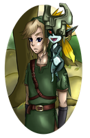 Link and Midna by PinkCherryGirl