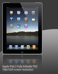 iPad 2 Black .PSD File by ruky1024