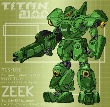 ZEEK with frag cannon (for T.I.T.A.N. 2100) by Grebo-Guru