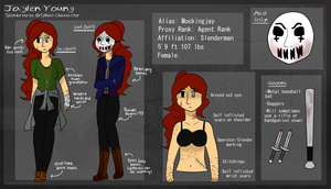 SLENDERVERSE OC: Jaylen Young Reference by GreyPencilWolf