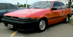 Red Toyota Corolla AE86 by Mister-Lou