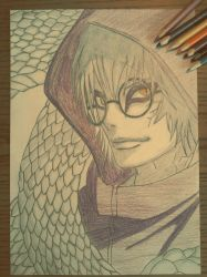Old drawing of Kabuto by InvisibleIS