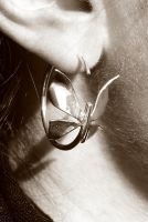 Butterfly balance act earring by fairyfrog