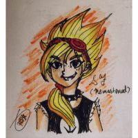 PvZ Heroes-Solar Flare as human(remake) by Velatina-young