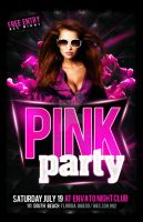 Pink Party Flyer by Industrykidz