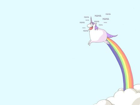 Happy Unicorn Wallpaper by kangel
