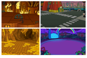 Futurama Pixel Backgrounds by zarry