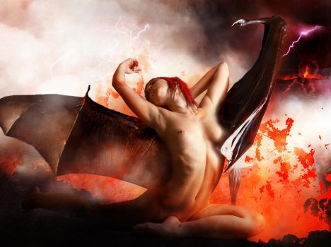 Demoness by Bryden42 and Mjranum-stock by FueledbypartII