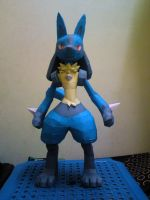 Lucario Papercraft 1 by riolushinx