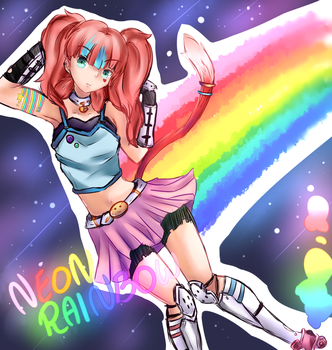 I'm a neon rainbow by DopellSerch