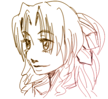 Aerith doodle by Lamppuzini